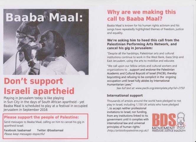 Baaba Maal flyer